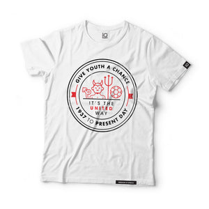 Give Youth a Chance - It's the United Way Black Label T-Shirt