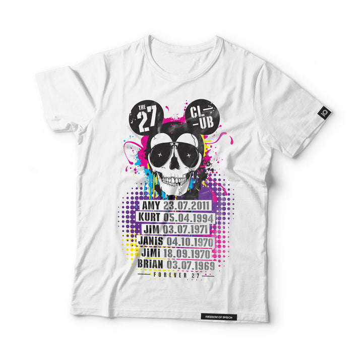 THE 27 CLUB - MOUSE SKULL T-SHIRT