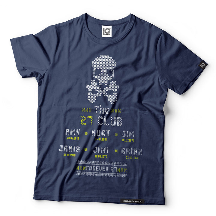 The 27 Club - Skull Cross Stitch - Black Label T-Shirt