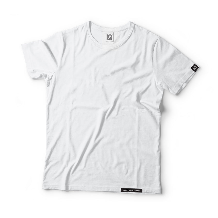 IQ Freedom Of Speech - Plain White 100% Supima Cotton T-Shirt