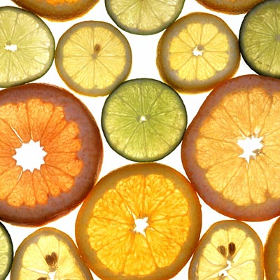 Image of various fruit slices with Citrus scent - link to products using Citrus collection