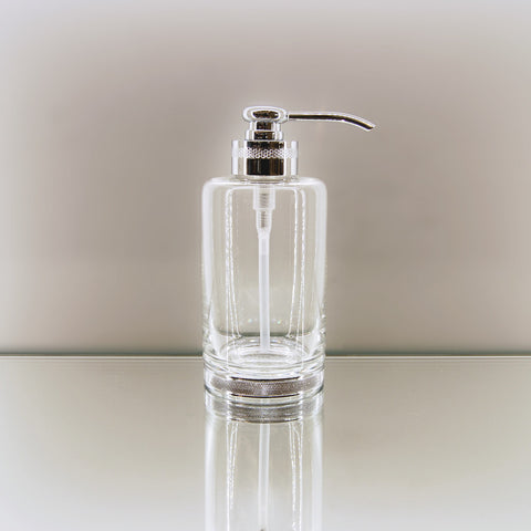 Soap dispenser plain Crystal and Silver