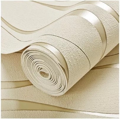 10M Home Improvement Wall Paper Modern Fashion Non-woven Flocking Wallpaper Rolls for Bedroom