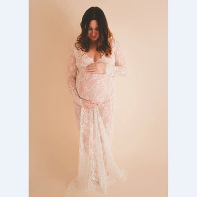 2019 Maternity photography props maxi Pregnancy Clothes Lace Maternity Dress Fancy shooting - CarGill Sells
