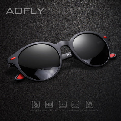 AOFLY BRAND DESIGN Men Sunglasses Polarized Oval Frame Sunglasses Women Men Vintage Unisex - CarGill Sells