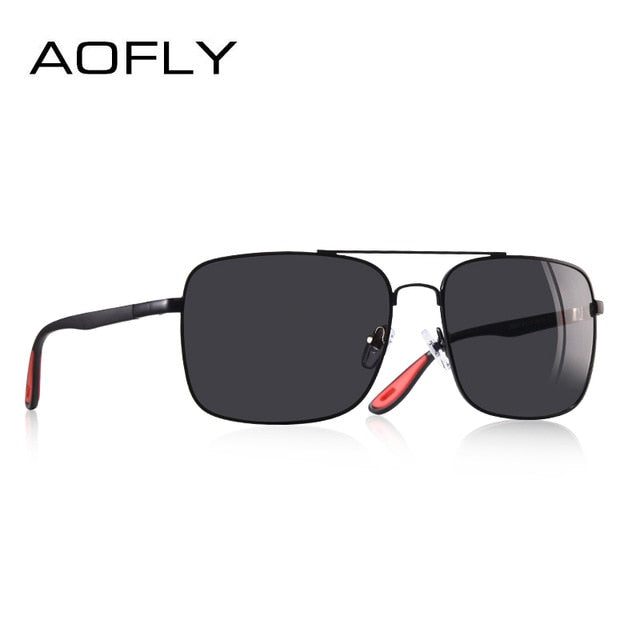 AOFLY BRAND DESIGN Sunglasses Men Driving Male Polarized Glasses Classic Vintage Square Frame - CarGill Sells