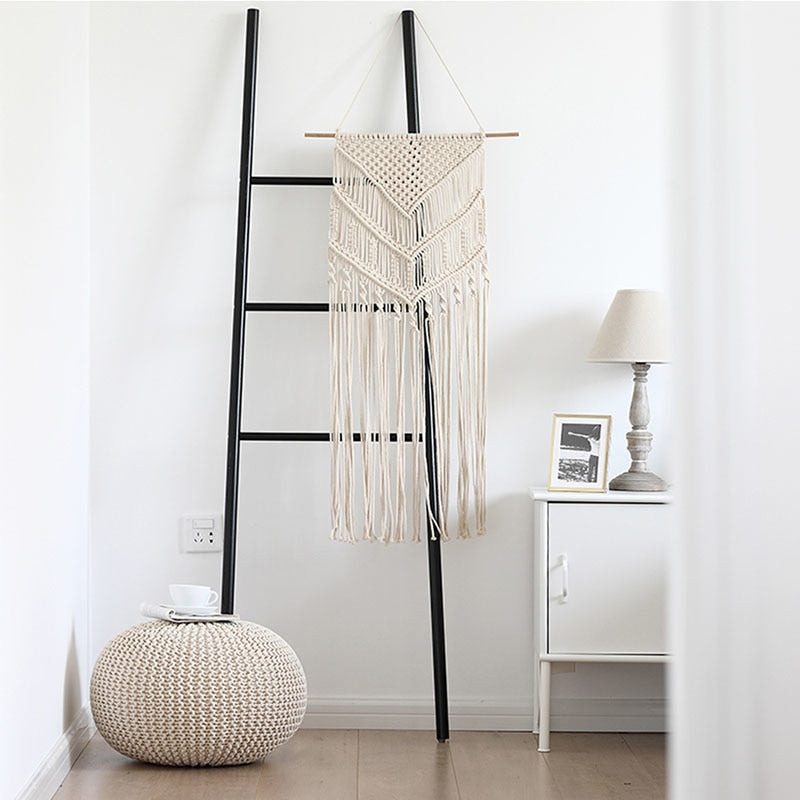 Bohemian large Chic Macrame Woven Cotton Tapestry Handmade Wall Hanging Fabric Farmhouse