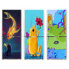Cartoon Design Self-adhesive Fridge Door Sticker Decorative Refrigerator Stickers For Kitchen Living