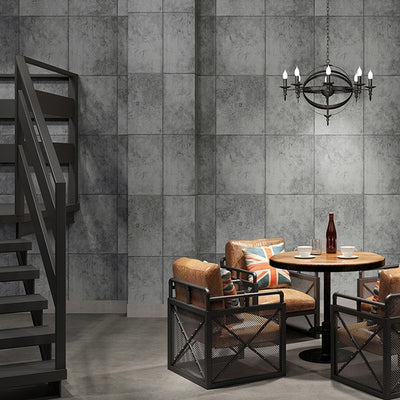 Cement Gray Imitation Tile Wallpaper For Bedroom Walls 3D Study Room Restaurant Bar Brick Pattern - CarGill Sells