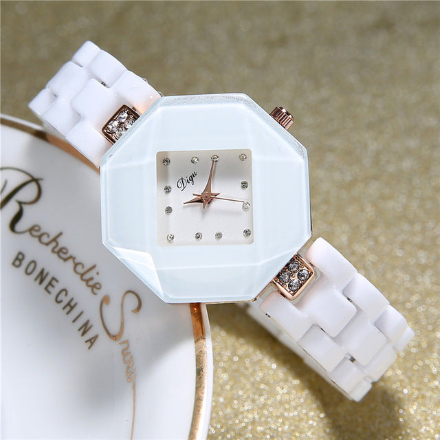 Ceramic Watch Women Watches Luxury Dress Wristwatch Famous Brand New 2019 Ladies Wrist Watch For Women Clock Female Hours Relog