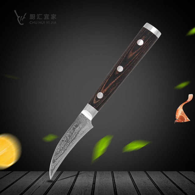 "Damascus Knives 8"" Chef Carving Knife High Carbon Japanese Damascus Fishing Knife Kitchen Knife Set"