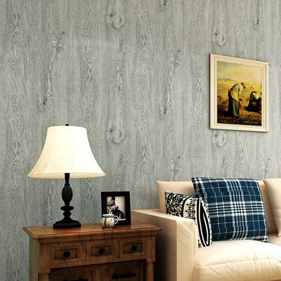 Environmental Protection Non-woven Imitation Wood Grain Wallpaper Roll Vintage Style Living Room - CarGill Sells
