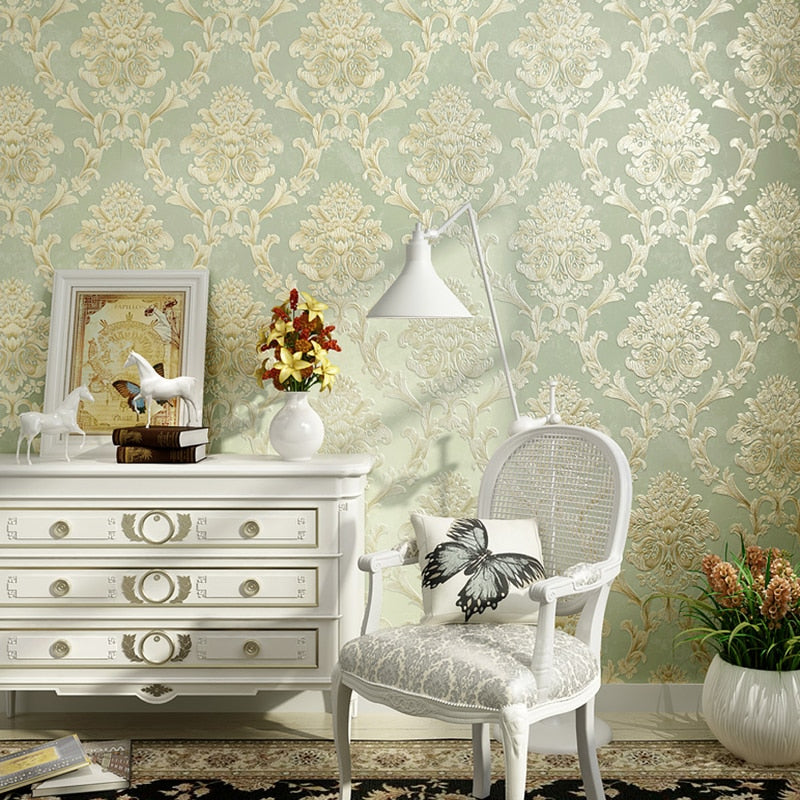 European Style Non-woven Fabric Wallpaper Wall Covering Roll Home Decor 3D Stereo Embossed - CarGill Sells