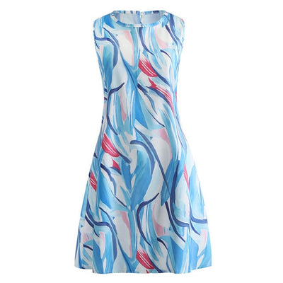 Fashion O-Neck Women Casual Dresses Short Sleeve Summer Camouflage Printed Casual Dress Summer - CarGill Sells