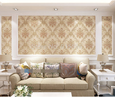 Luxury Damascus Damask Wallpaper Wall Covering Papel De Parede 3D European Style Bedroom Living - CarGill Sells