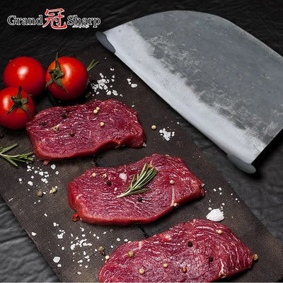 Forged Chef Knife For Clad Steel Forged Chinese Cleaver Professional Kitchen Knives Slicing Chopping