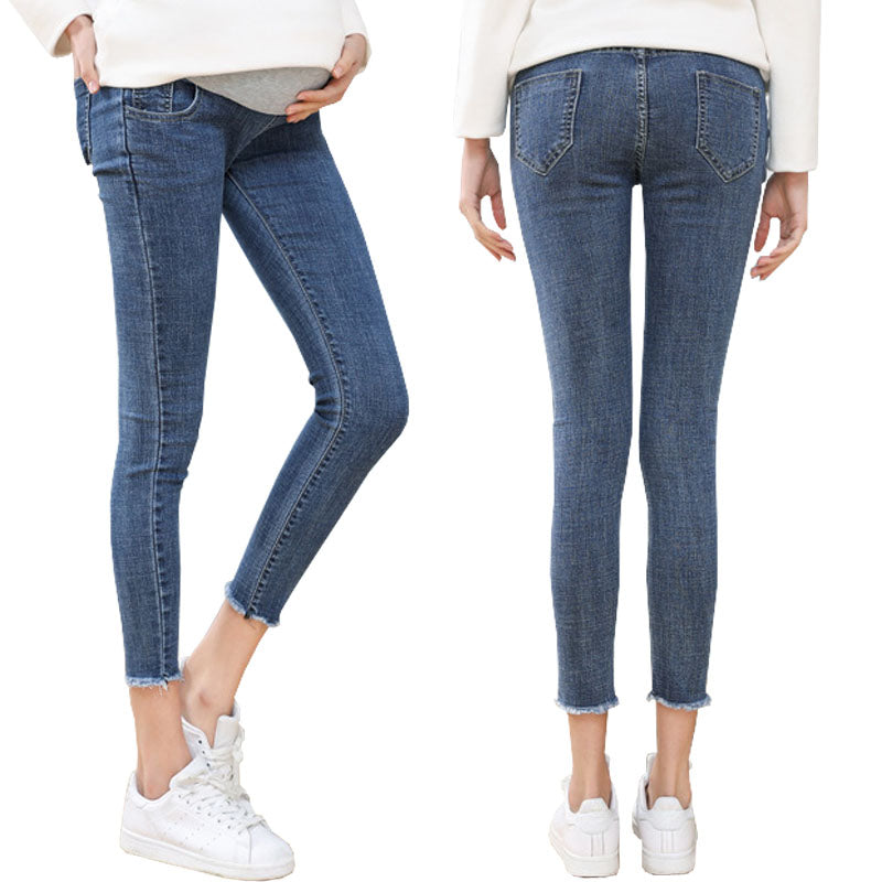High Quality Ninth Pants Maternity Jeans For Pregnant Women Clothes Skinny Denim Stretch - CarGill Sells