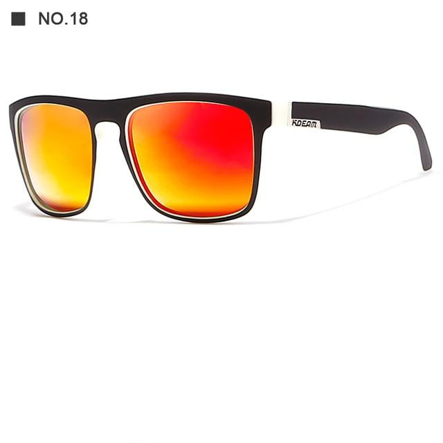 KDEAM 2018 Sport Sunglasses Polarized For Men Sun Glasses Square Driving Personality Color Mirror - CarGill Sells