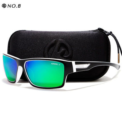 KDEAM Outdoor Polarized Sunglasses Goggles Men Sun Glasses 100%UV Zipper Case Included Sports - CarGill Sells