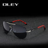 OLEY Brand Men Vintage Aluminum Polarized Sunglasses Classic Pilot Sun glasses Coating Lens Shades - CarGill Sells
