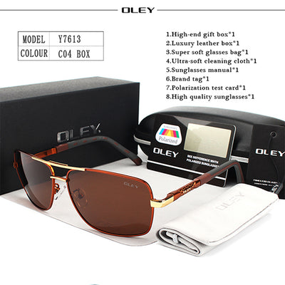 OLEY Brand Polarized Sunglasses Men New Fashion Eyes Protect Sun Glasses With Accessories Unisex - CarGill Sells