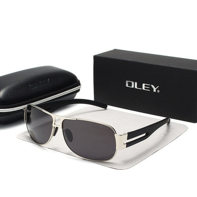 OLEY Classic Brand Polarized Sunglasses Men Fashion Pilot Goggles Driving Glasses Rectangle - CarGill Sells