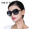OLEY Oversized Sunglasses Women Luxury Brand Design Elegant polarized Glasses Female Prismatic - CarGill Sells
