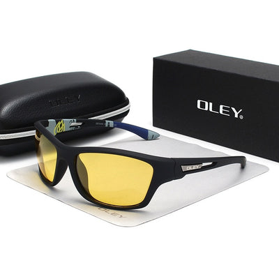 OLEY Polarized Sunglasses Men's Driving Shades Outdoor sports For Men Luxury Brand Designer Oculos - CarGill Sells