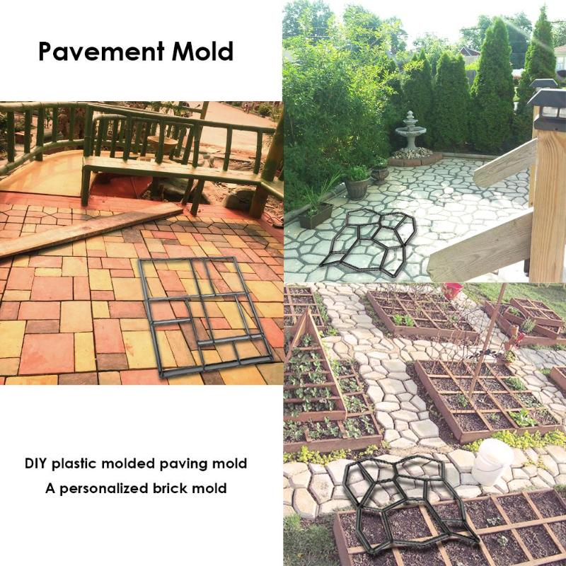 Plastic DIY Paving Mould Home Garden Pavement Floor Manually  Road Concrete Stepping Driveway