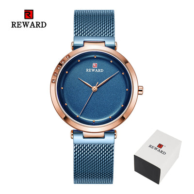REWARD Watches Women Fashion Simple Watch Reloj Mujer 2019 Ultra-thin Stainless Steel Strap Quartz Watch Best Gifts For Ladies