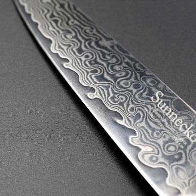 "SUNNECKO 5"" inches Utility Knife Damascus Japanese VG10 Steel Sharp Blade Strong Hardness Kitchen"