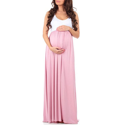 Teenster Maternity Clothing Maternity Dresses Sleeveless Pregnancy Dress Vestido Patchwork Large - CarGill Sells