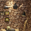 Vintage Wall Paper Waterproof Wall Papers Home Decor 3D Imitation Rock Stone Vinyl Wallpaper - CarGill Sells
