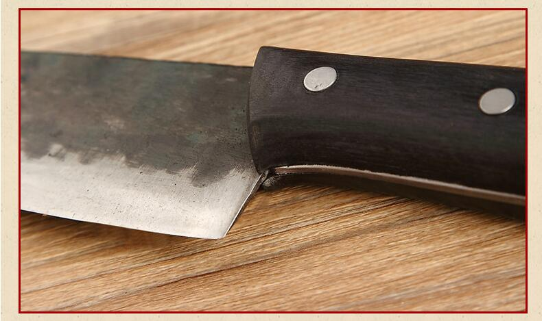 XITUO EDC Utility kitchen knife Very sharp Tungsten steel clamp steel Handmade knife 29cm Rosewood