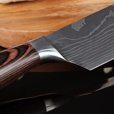 XITUO New Design 7''Japanese Santoku Chef knife Stainless Steel Imitate Damascus Pattern Kitchen