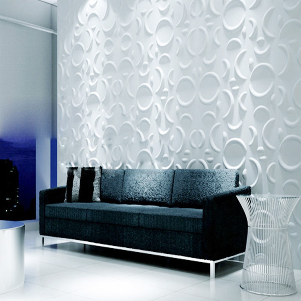 Yazi Plastic Molds Forms 3D Decorative Wall  Panels  Wallpaper Murals for Living Room