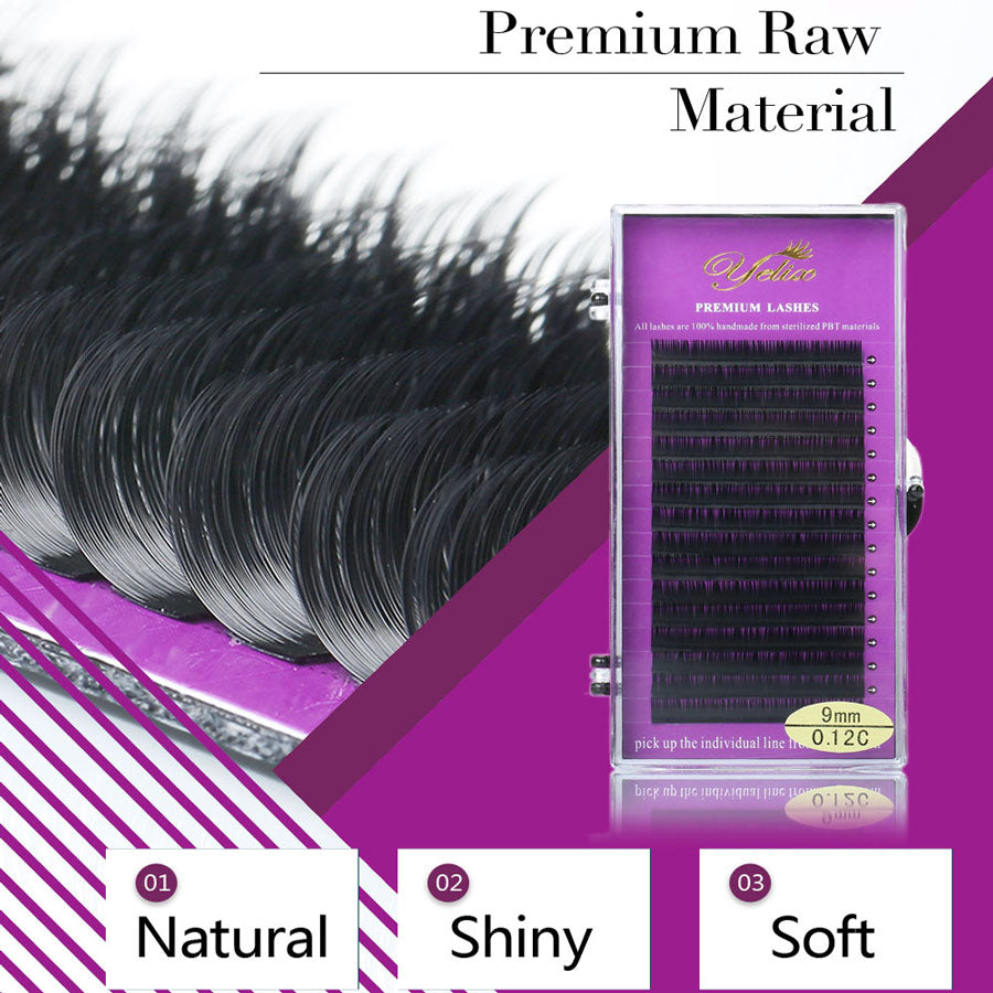 Yelix 16Rows Soft & nature Individual False Eyelash Eye Lashes Mink Fake Eyelashes Extension maquiagem cilios for professionals