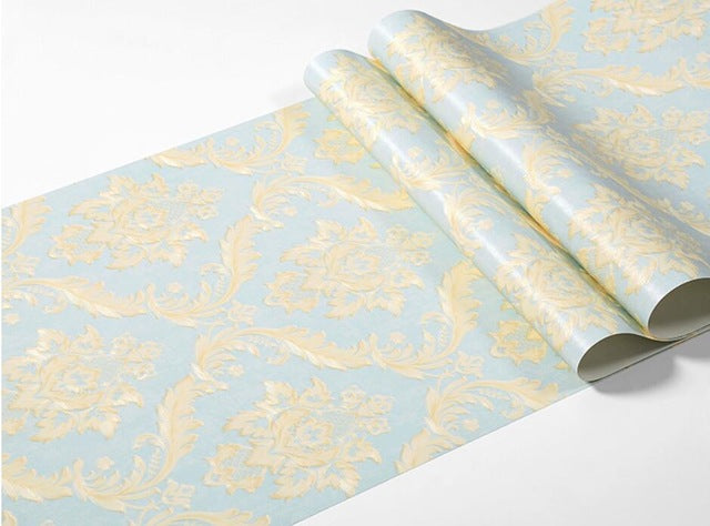 beibehang of wall paper wall paper Damask Wallpaper Classic PVC Wall Paper Roll papel de parede