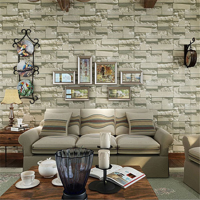 beibehang papel mural European Style Brick Wall Paper Project 3D Stereo Wall Paper Home Decoration