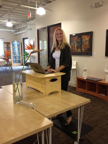 Standee Classic Bamboo Standing Desk