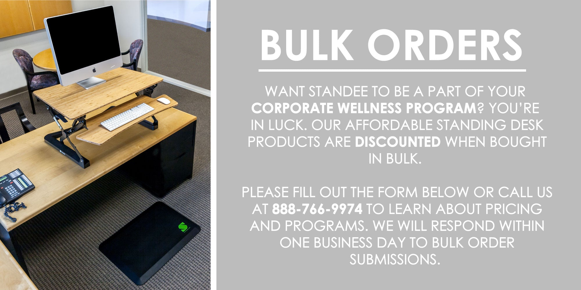 Standee Standing Desk Business Order