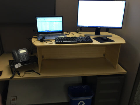 Standee Classic XL Bamboo Standing Desk