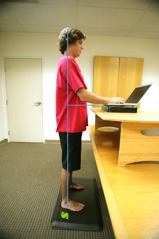proper way to stand at a stand at a standing desk