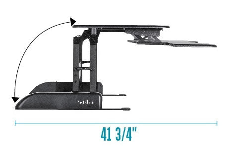 Varidesk Pro 36 Diagonal Movement