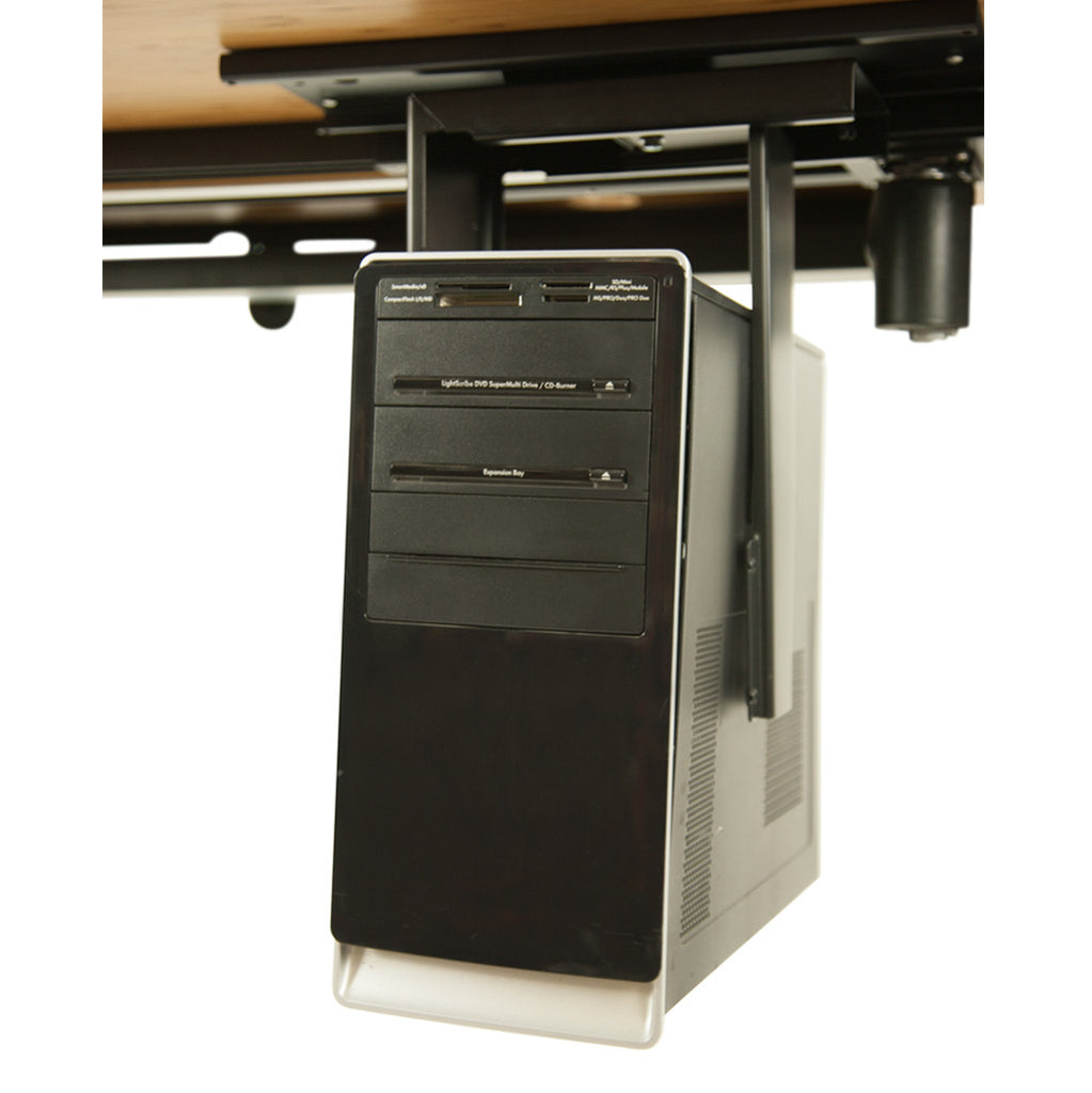 Standing Desk Black CPU Shelf