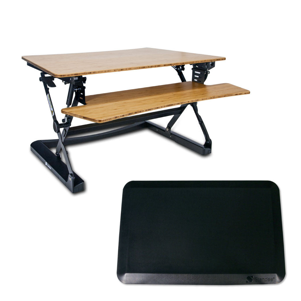 Standee Boost Adjustable Desktop Standing Desk Combo Pack StandeeCo