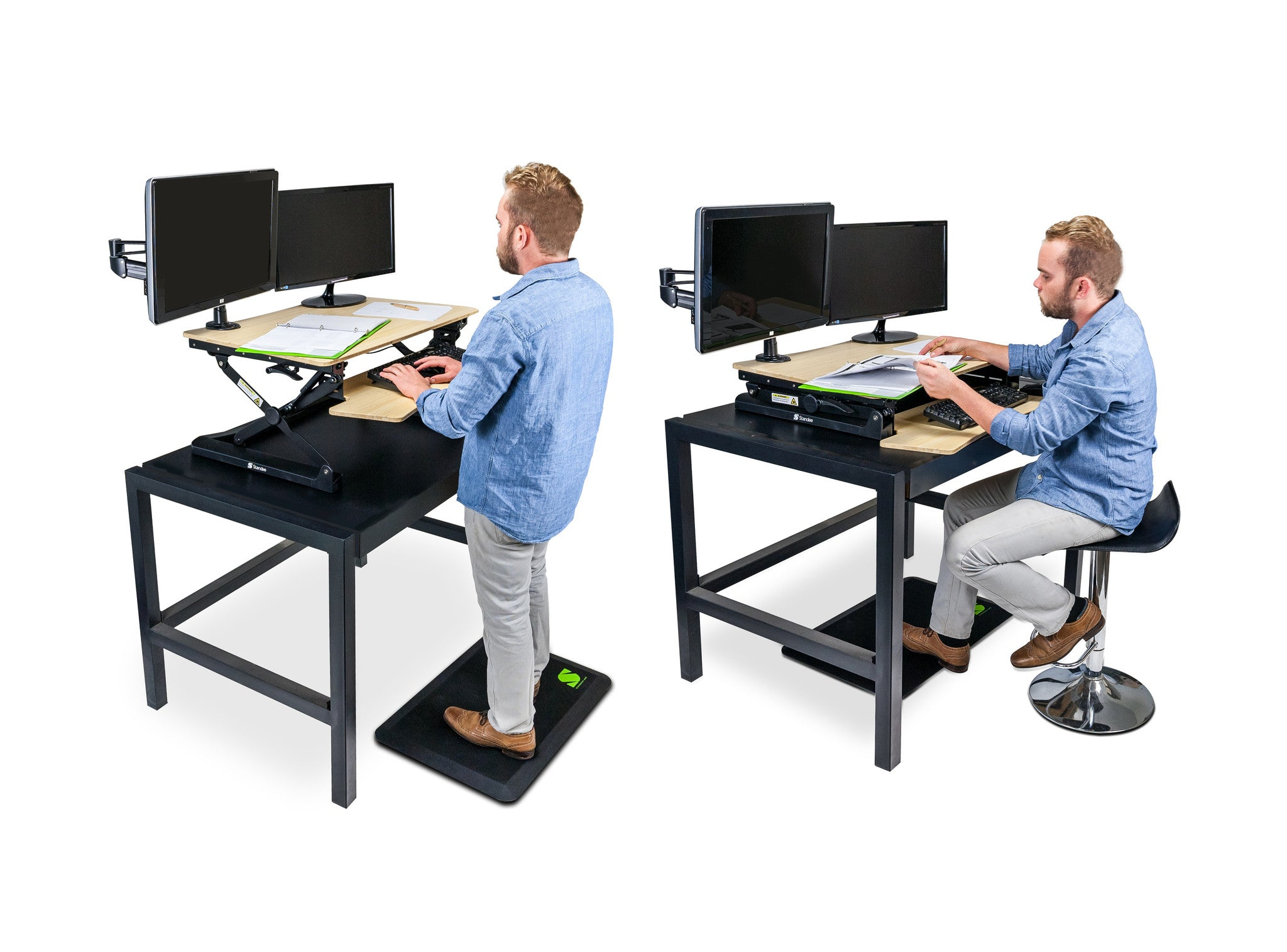 Standee Boost Height Adjustable Desktop Standing Desk