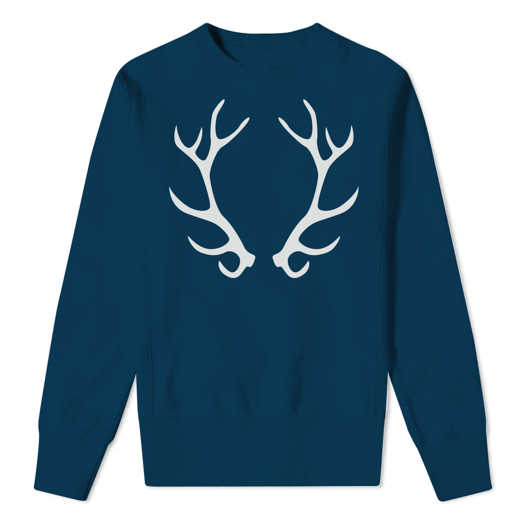 Christmas Antlers - Kids Navy Sweatshirt