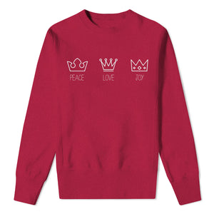 Mens Christmas Crowns - cherry red sweat