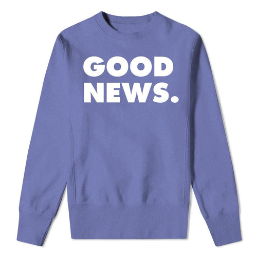 GOOD NEWS violet sweatshirt